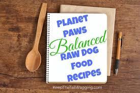 planet paws balanced raw dog food