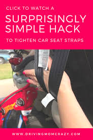 tighten car seat straps