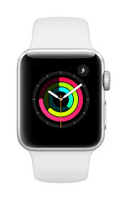 Apple Watch Series 3 GPS, 42mm Silver Aluminum Case with White Sport Band  (2018) - kite+key, Rutgers Tech Store