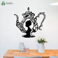 Wall Decal Tea Pot Pattern Woman Head Vinyl Wall Stickers Modern Design Removable Livingroom Art Mural Home Decor Home Wall Decal Home Wall Decals From Onlinegame 11 85 Dhgate Com