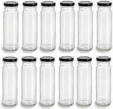 nakpunar 12 pcs 8 oz tall glass jars
