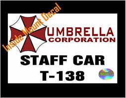Umbrella Corp Resident Evil Two Staff Car Decals Free Umbrella Magnet 243043457