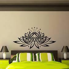 Lotus Wall Decal Vinyl Sticker Yoga Lotus Flower Indian Etsy