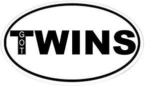Amazon Com Cafepress Got Twins Oval Sticker Oval Bumper Sticker Euro Oval Car Decal Home Kitchen