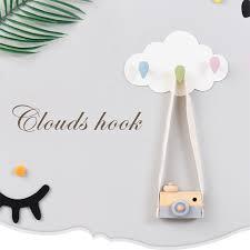 Cute Cloud Moon Wall Hanging Hook Diy Hanger Children Room Supplies Wall Decor