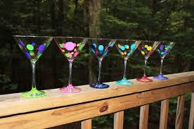 personalized martini glasses party