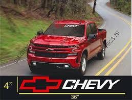 Chevrolet Silverado Cruze Windshield Graphic Vinyl Decal Sticker Vehicle Logo 13 99 Picclick
