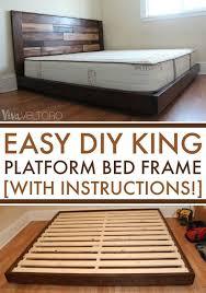 easy diy platform bed frame for a king