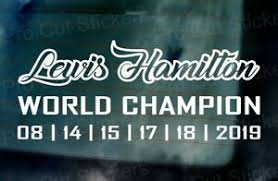 Lewis Hamilton 6 Time World Champion Wall Car Window Bumper Sticker Decal Ref 3 Ebay