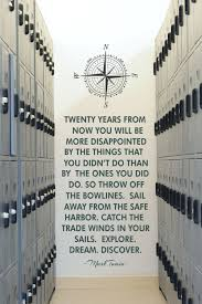 Twenty Years Mark Twain Quote Large Wall Decal Wall Quotes Wall Quotes Decals Inspirational Wall Quotes