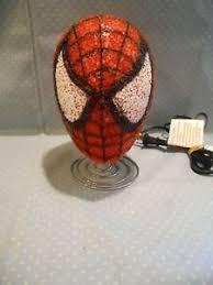 Marvel Spiderman Kids Bedroom Table Lamp Night Light Spider Man Head Ebay
