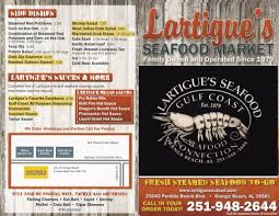 Lartigue's Seafood Market menu in ...