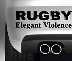 Amazon Com Rugby Elegant Violence Decal Vinyl Sticker Jdm Euro Drift Lowered Stance Laptop Ipad Window Wall Car Truck Motorcycle Automotive
