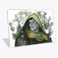 Doctor Doom Laptop Skin By Kattertotts Redbubble