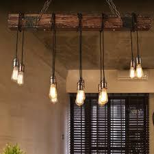 10 heads industrial rustic chandelier