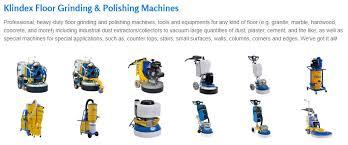 klindex floor grinding and polishing