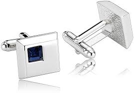 stainless steel french cufflinks silver