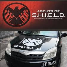 Avengers Agents Of Shield Hood Bonnet Vinyl Reflective Car Auto Decal Sticker Ebay
