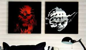 Star Wars Wall Art 12 X 12 Chewbacca And Yoda Two Piece Canvas Set Disney For Sale Online