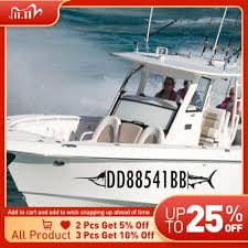 Custom Boat Registration Numbers Sticker For Boat Decal Stickers Stylingcar Personalized Fish Stickers Swordfish Art Decal Car Stickers Aliexpress