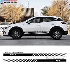 For Mazda Cx 3 Car Door Side Skirt Sticker Racing Development Graphic Stripes Auto Body Accessories Vinyl Decal Car Stickers Aliexpress