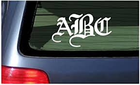 Car Decal Vinyl Monogram Truck Decal Personalize Initials Window Sticker On Sale