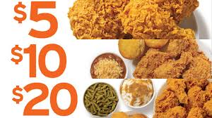popeyes offers 5 10 and 20 mixed