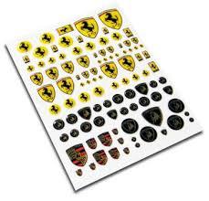 European Car Emblem Stickers 1 12 1 18 1 24 1 43 Porsche Ferrari Lamborghini Msma033 Msm Creation
