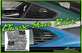 American Flag Quarter Window Decal Universal Fits Brz Frs Wrx Sti Subaru Dist Ebay