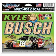 Champion Kyle Busch 18 M Ms Crispy Racing Nascar Multi Use Decal 6 X 4 Ebay