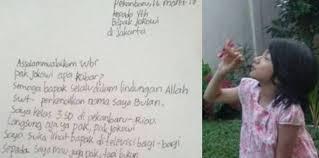 Surat Untuk Presiden Jokowi Anak Tulis Surat Ke Jokowi Minta Kursi Roda Theasianparent Indonesia