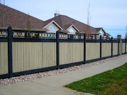 Vinyl Topped Wood Fence Fence Toppers Metal Fence Fence Design