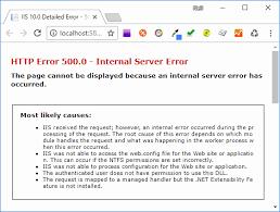 error 500 internal server error