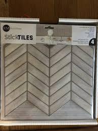 chevron distressed l and stick tile