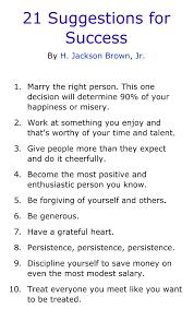 21 Suggestions For Success — Myke Bizzell Enterprises Inter'l LLC
