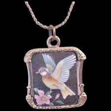 glass bird pendant necklace forever