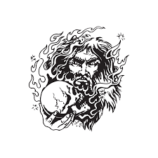 Firey Wizard With Skull Decal