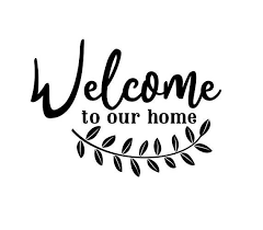 Welcome To Our Home Vinyl Decal Welcome Sticker Window Decal Canteen Design Decal Paper Window Frame Decor