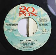 Denise Lor - Denise Lor 45 RPM Everything I Do / You're Everywhere ...