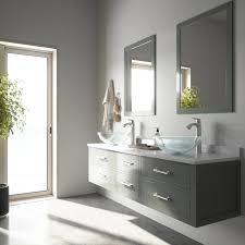 crystalline glass vessel bathroom sink
