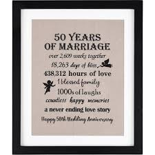 50 years of marriage burlap print 11 w