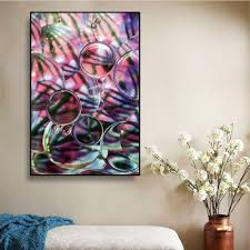 Wall Art Canvas Painting Purple Bubble Watercolor Kids Room Romantic Decoration Poster Wall Picture For Living Room Home Decor Painting Calligraphy Aliexpress
