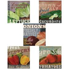 Locally Grown Vegetables Wall Decal Set Vintage Style Home Decor Bundle For Sale Online
