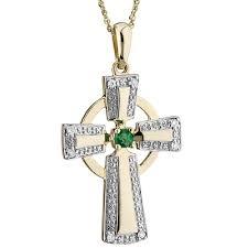 14k yellow white gold diamond emerald