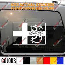 Finland Flag Suomi Lion Decal Sticker Car Vinyl Pick Size Finnish No Bkgrd Car Stickers Aliexpress