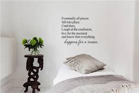 Amazon Com Eventually All Pieces Fall Into Place Until Then Laugh At The Inspirational Wall Decals Wall Decal Quotes Inspirational Art Quotes Inspirational