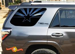 State Of Arizona Flag Windshield Decal Fits 2010 2019 Toyota 4runner Trd Pro Limited Stickers