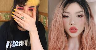 makes herself look asian causes anger