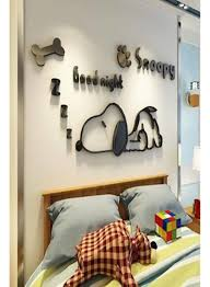 3d Cartoon Snoopy Wall Stickers For Kids Rooms Boys Gifts Through Wall Decals Home Decor Mural Multi Color Price In Uae Noon Uae Kanbkam