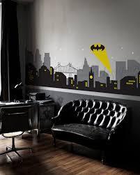 Gotham City Night Scene With Batman Light Wall Decal Large Set